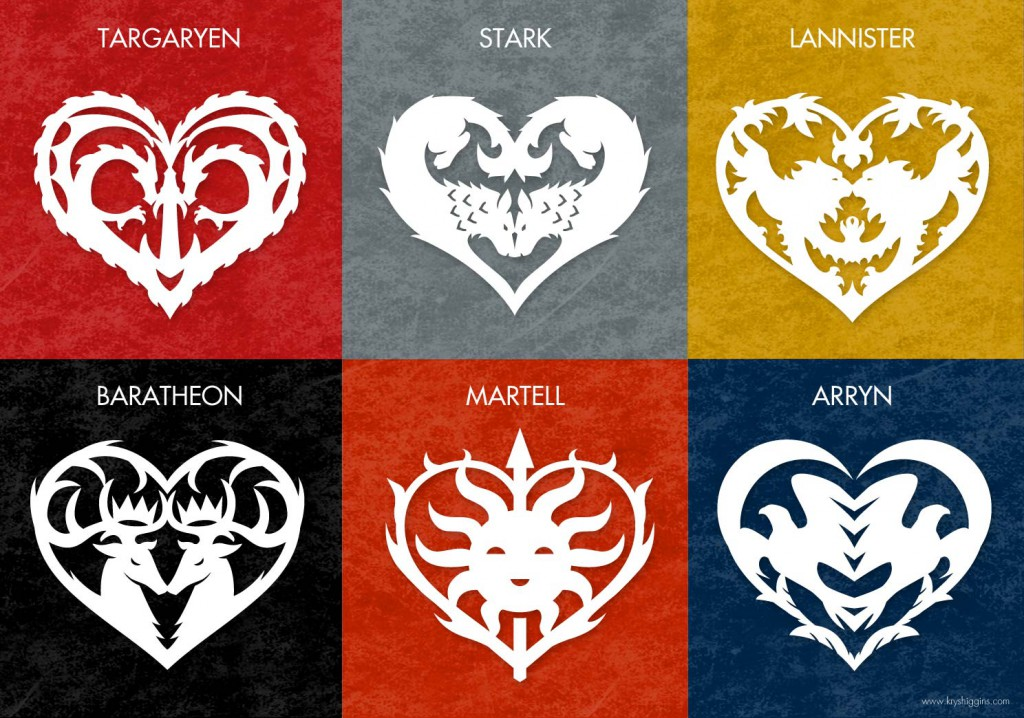 picture regarding Game of Thrones Stencil Printable known as Totally free Valentines middle styles encouraged via Video game of Thrones