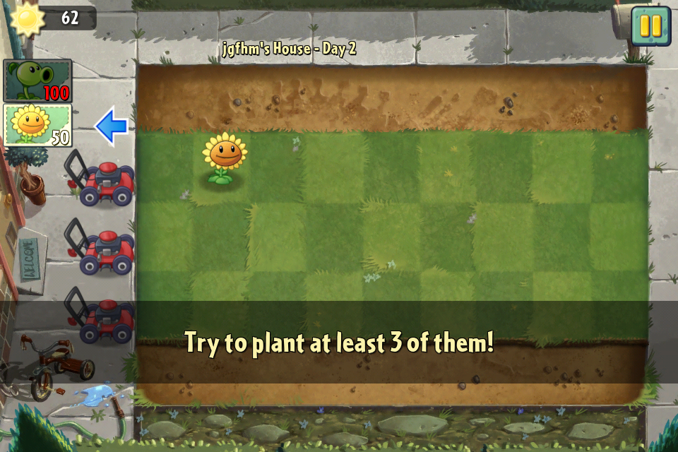 Plants vs Zombies playthrough
