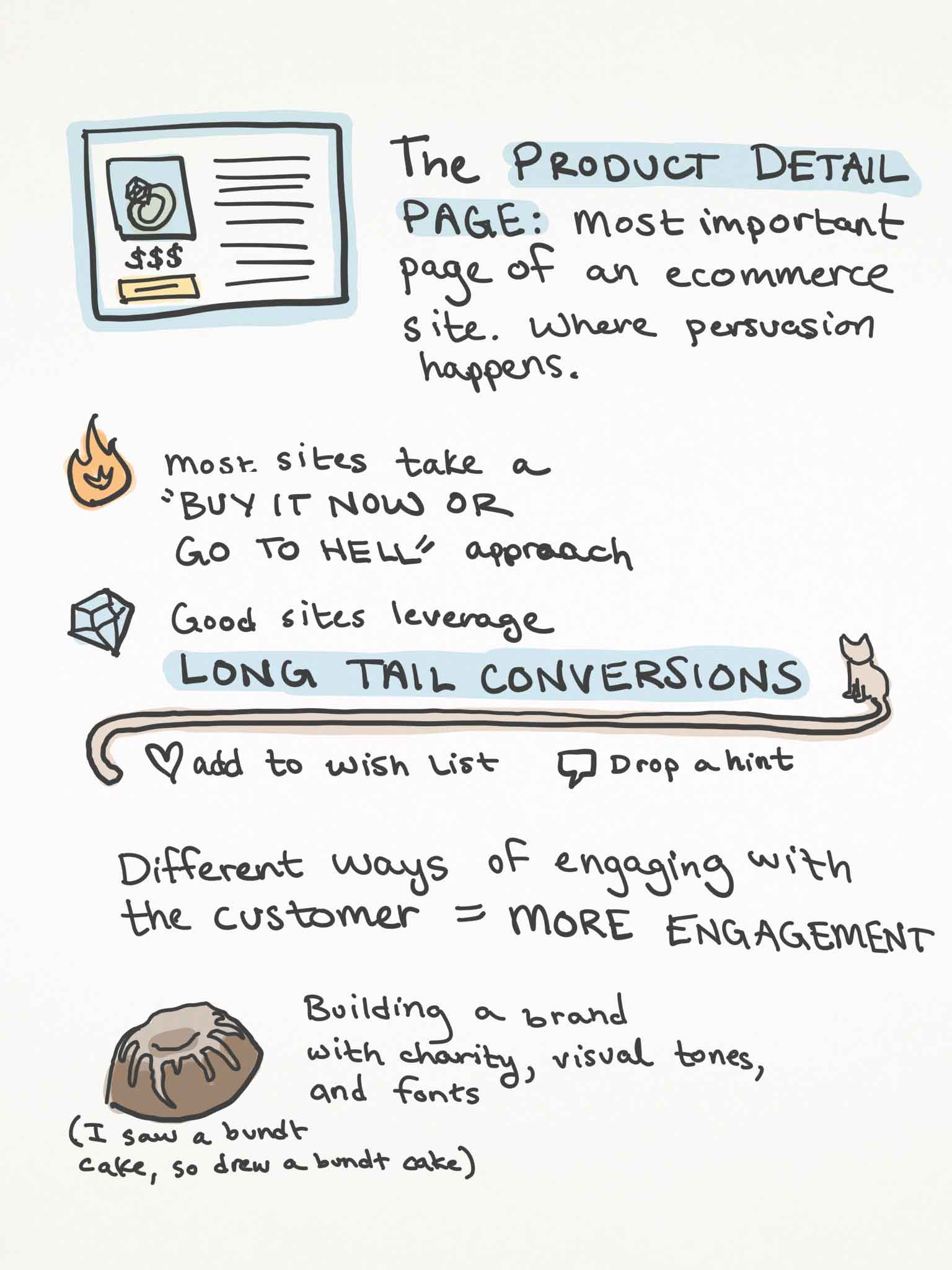 Sketchnotes page 2 of Jeffrey Zeldman's talk
