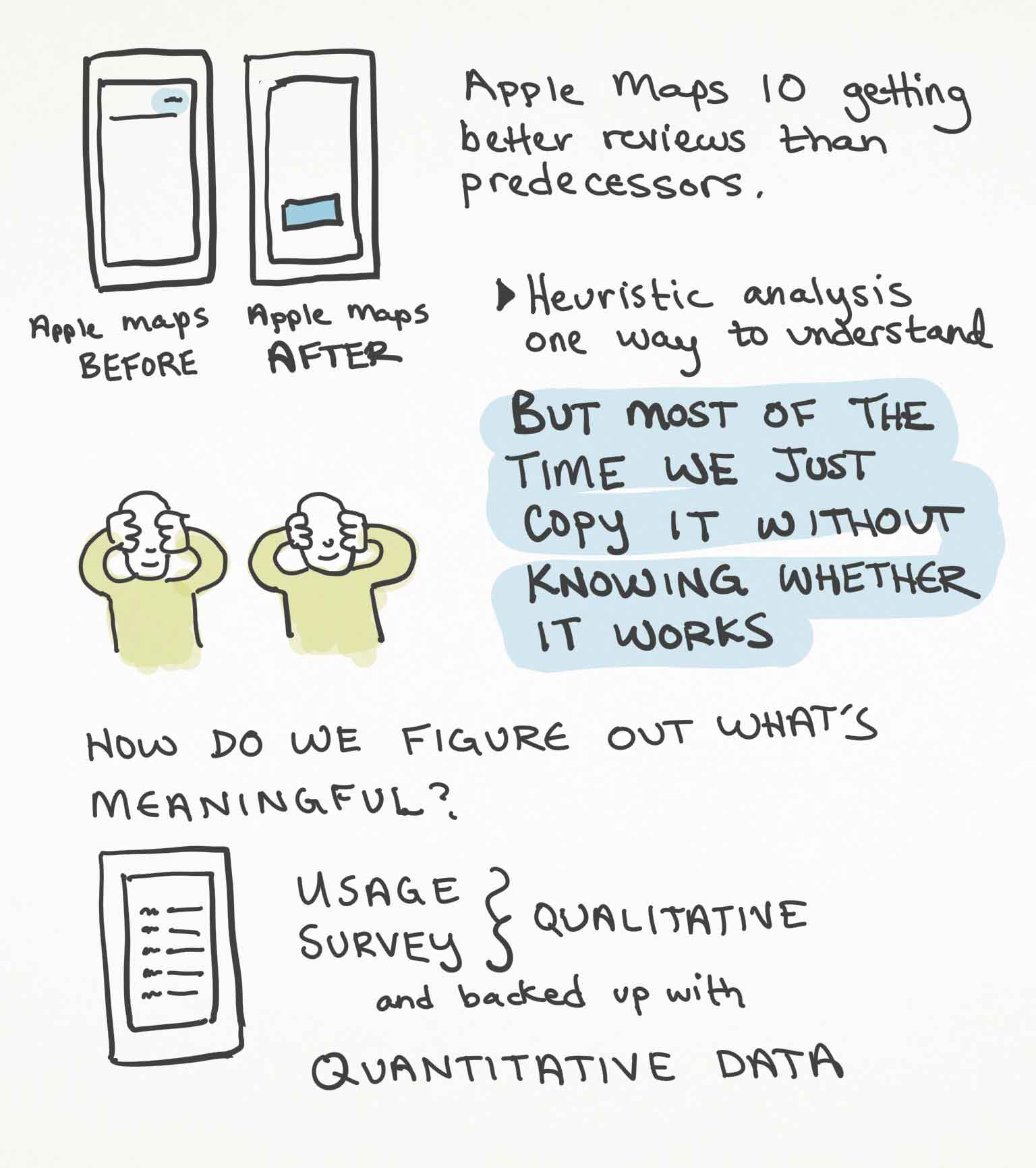 Sketchnotes page 3 from Luke Wroblewski's talk