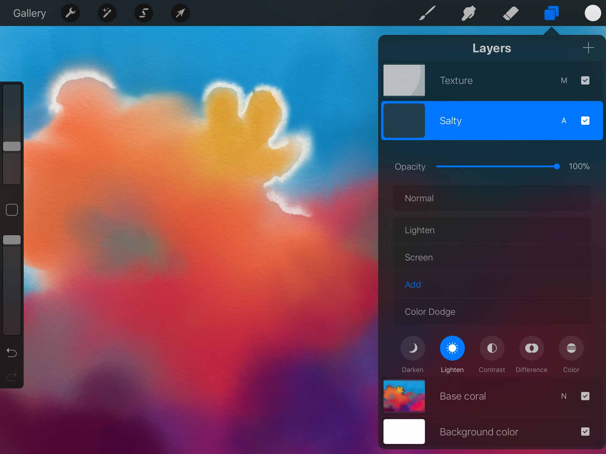 Screenshot of Procreate for iPad app's layer palette, showing a layer named